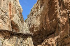 European Nostra Award winner for Camino del Rey royalty free stock photo