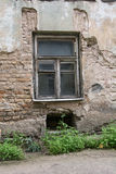 European Old buildings, decay. Old European building, urban decay Royalty Free Stock Images