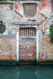 European old doors that have survived the test of time. Once a doorway that opened to a Venice canal Royalty Free Stock Photography