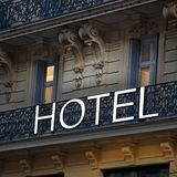 European old hotel Royalty Free Stock Photos