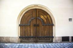 European old wooden door Royalty Free Stock Photo
