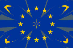 European original flag colors abstract design form Stock Images