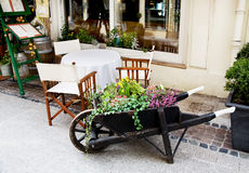 European outdoor cafe Stock Photos