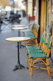 European outdoor cafe Stock Images