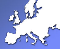 European outline map Royalty Free Stock Photography