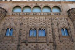 European palace facade Jabalquinto Baeza. Facade of the palace of jabalquinto in the Spanish Mediebal city of Baeza. Tourist monument built by the architect Stock Image