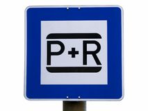 European park and ride sign Stock Photography