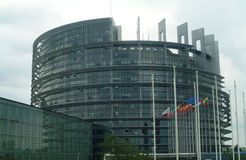 European parliament. Is in Strasbourg Royalty Free Stock Image