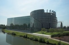 European Parliament. Nice shot of the European Parliament in Strasbourg royalty free stock photo