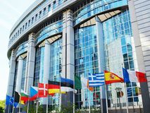 European Parliament in Brussels Stock Image