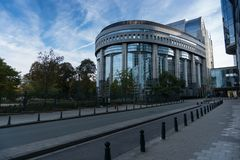 European Parliament in Brussels, Belgium stock images