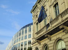 European Parliament in Brussels stock photography