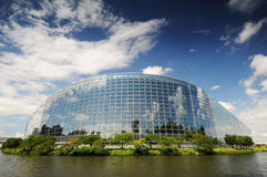 The European Parliament building Stock Image