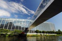 The European Parliament building Stock Photos