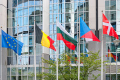 European Parliament building in Brussels Stock Images