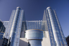 European Parliament building in Brussels Royalty Free Stock Image
