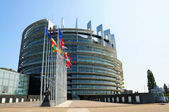 European parliament stock image