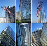 European parliament collage royalty free stock photos