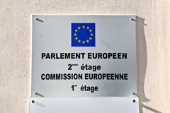 European parliament and commission sign Stock Image