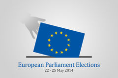 European Parliament Elections 2014. European Parliament election 2014, conceptual illustration. These are the 8th Europe-wide election since the first direct stock illustration