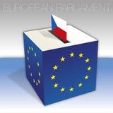 Czech Republic, European parliament elections, ballot box and flag. European parliament elections voting box, Czech Republic, flag and national symbols, vector vector illustration