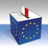 Malta, European parliament elections, ballot box and flag. European parliament elections voting box, Malta, flag and national symbols, vector illustration royalty free illustration