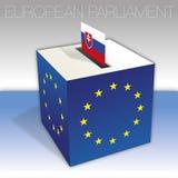 Slovakia, European parliament elections, ballot box and flag. European parliament elections voting box, Slovakia,  flag and national symbols, vector illustration vector illustration