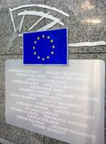 European Parliament entry sign Royalty Free Stock Photos