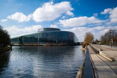 The European Parliament stock photo