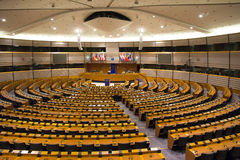 European Parliament Room Stock Photo