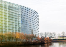European Parliament in Strasbourg glass facade Stock Image