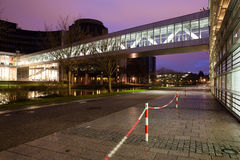 The European Parliament Strasbourg. In night Stock Photography