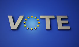 European parliamentary elections Royalty Free Stock Images