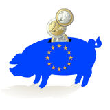 European piggy bank Stock Photography