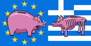 European piggy bank. Royalty Free Stock Photos