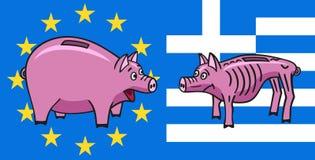 European piggy bank. Royalty Free Stock Photos