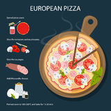 European pizza recipe. Royalty Free Stock Images