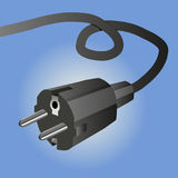 European plug. An illustration of a European plug Royalty Free Stock Image