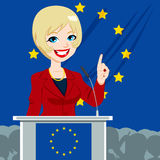 European Politician Woman Candidate Stock Photography