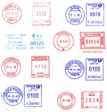 European postmarks background Royalty Free Stock Photos