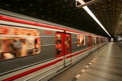 European Prague metro Royalty Free Stock Photography