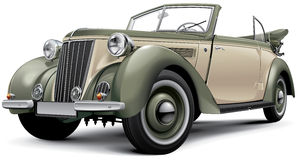 European prewar luxury convertible Stock Photos