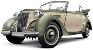 European prewar luxury convertible Stock Photos