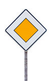 European priority road sign Stock Photo