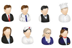 European Profession Icons. European icons with different proffesions that can be used for corporate designs, websites icons and others Stock Photography