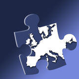 European puzzle Royalty Free Stock Photography