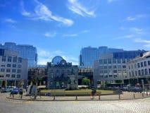 European quarter in Brussels, Belgium Stock Photo