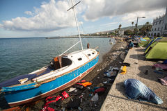 European Refugee Crisis - Kos island, Greece Stock Image