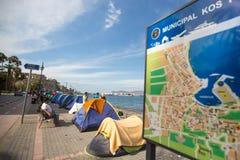 European Refugee Crisis - Kos island, Greece Royalty Free Stock Photography
