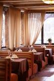 European restaurant in bright colors Stock Photo